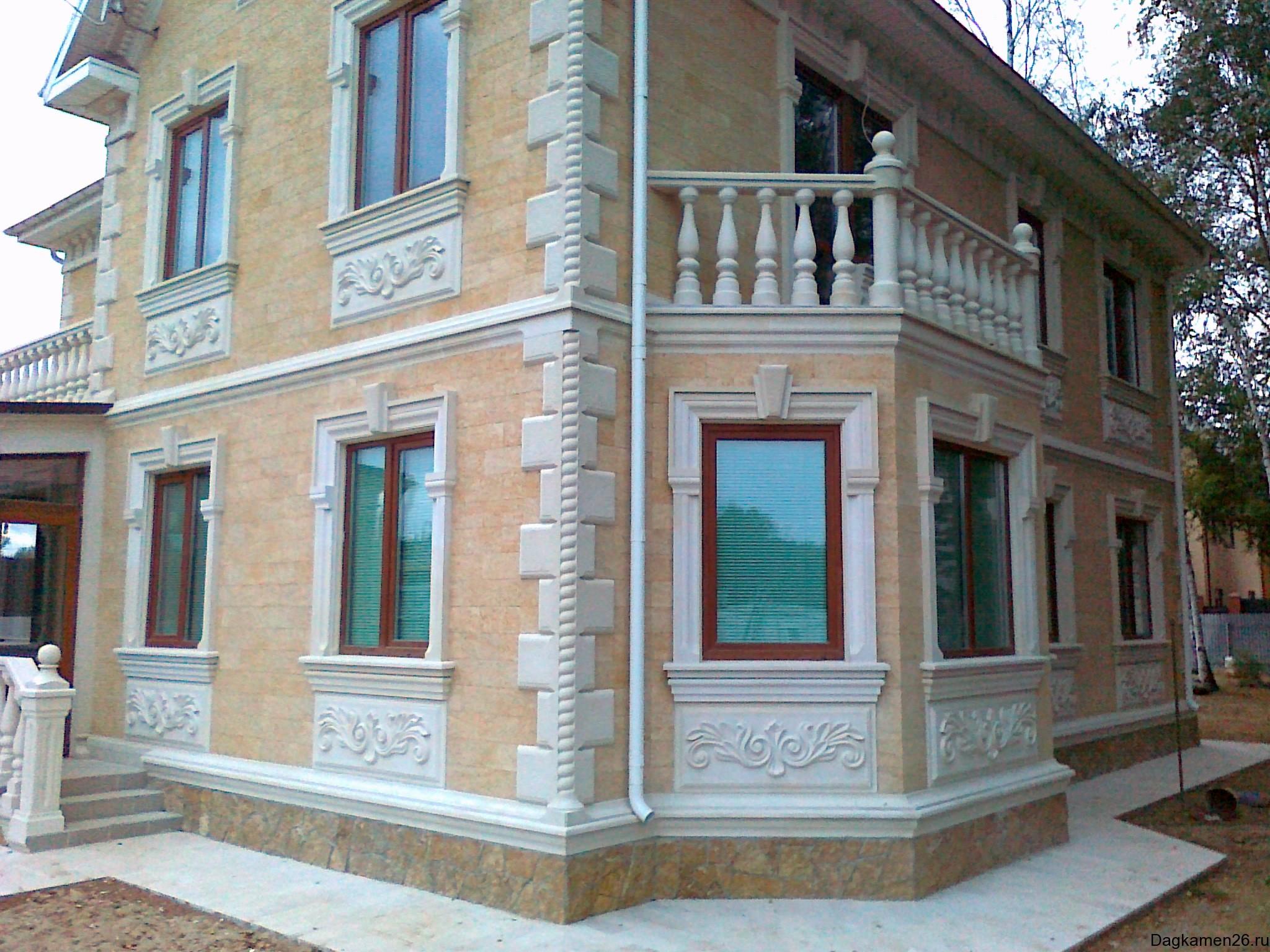 Как сделать фасад дома из камня 219
